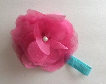 Sweet Organza Flower Headband