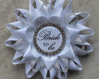 Bridal Shower Decorations, Bride to Be Pin, Bride to Be Corsage, Bridal Shower Corsage, Sister of the Bride, Maid of Honor, Aunt, Mother