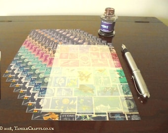 Midnight Sea - Writing Paper Wallet • Postage Stamp Letter Writing Set