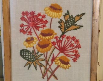 Vintage Floral Embroidery Picture