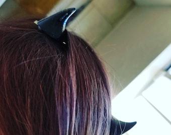 Devil horn hairclips