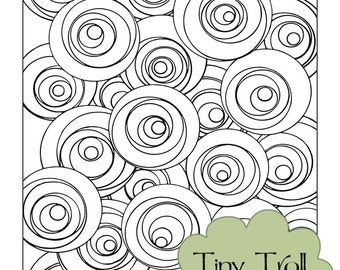 Fun with Circles Adult Coloring Page - Instant Digital Download - Printable - Zendoodle