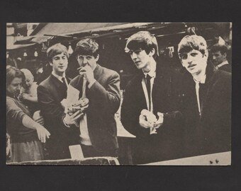 Vintage 1964 Beatles Post Card Never Used See Pic Rare Find