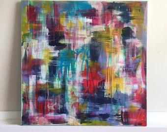 "Medium Abstract Painting Original Acrylic Art ""Breathe Me"""