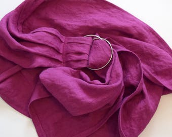 LITTLE Doll Ring Sling Carrier - Fuschia Pink