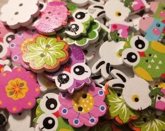 Transport/animals/flower wooden buttons BIG SALE!!!