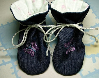 "Terra Verde, ""TV"" Baby Bootie Bootee ""Physical"" Sewing Pattern, Includes 5 sizes Preemie to 12 months"