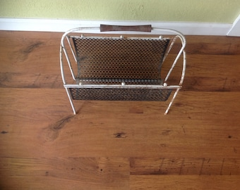 Vintage Metal Magazine Holder