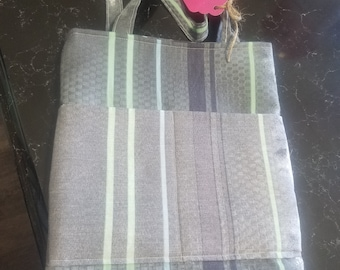 Recycled Bed Sheet Tote