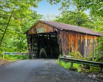 Covered Bridge, Wooden, History, Girard, Pennsylvania, PA, Spring,