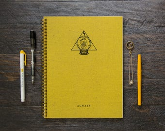 Large Notebook (Gridded or Lined/170 Pages) | Yellow Always Divination Planner