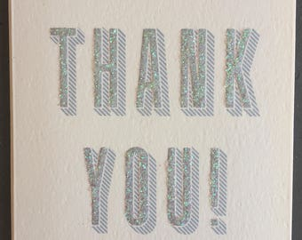Glitter Thank You (Greeting Card)