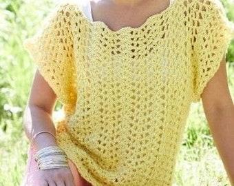 Crochet summer blouse