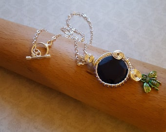 Blue Agate Wire Wrapped Pendant