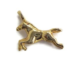 Vintage Goldtone Wild Horse Equestrian Pendant