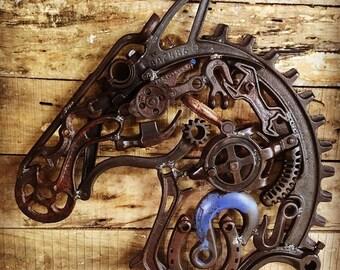 "Rustic Metal Sculpture Horse ""Toby"""