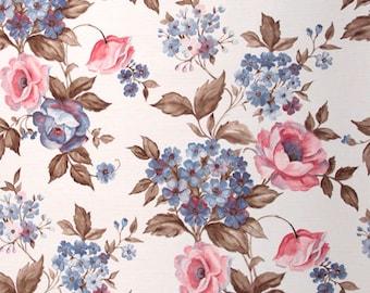 70s Flower Wallpaper #0111-running meter/vintage wallpaper/Floral Wallpaper