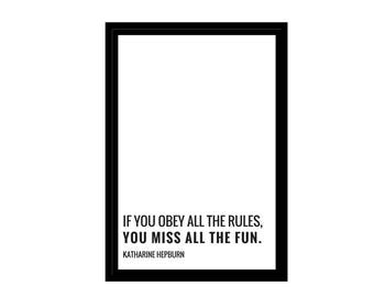 """Katharine Hepburn Quote, Minimalist Photo, Digital Download, Inspirational Quotes, 4x6"""", A1, A2, A3, A4, Canvas File, Text & Quote Poster"""