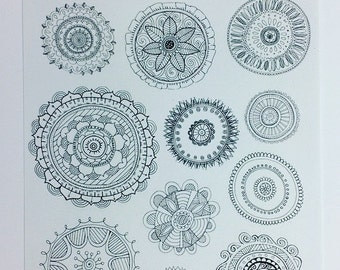 Bullet journal mandala sticker sheet