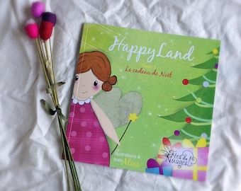 Paper illustrated children's book * happyland *, soft paper, story book of fairy book illustrated with drawings