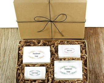 Mothers Day Gift Box | Mother Gift, Cold Process Soaps, Guest Soaps, Bath Salt, Gift Boxed, Birthday Idea, Gift Idea for Women Men Teens