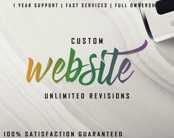 Custom website design / Business website / Wedding website / Photography website / Professional website / 5 Page website design