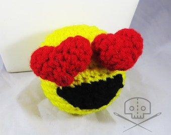 Valentine Heart Emoji Plush Crochet