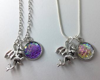 Dragon Scale Necklace Silver
