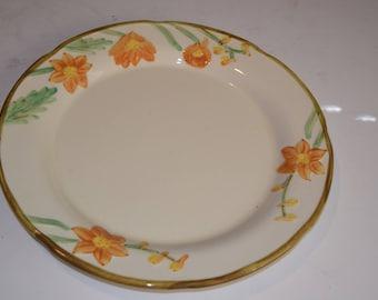 "Vintage 1950's ""Hollywood Craftsman"" Poppy 13"" Circular Platter"