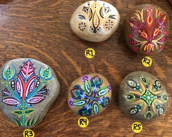 Hand-painted decorative stones