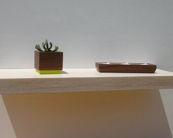 Floating shelves - Modern Shelves - Wall Shelf - Book Shelf - Wood Shelf - set of 2