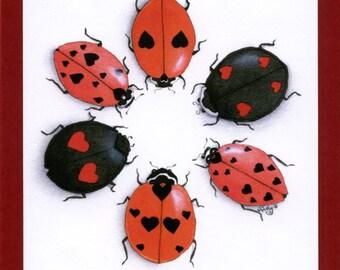 Ladybug Greeting Card, Ladybird (Love Bugs) Greeting Card