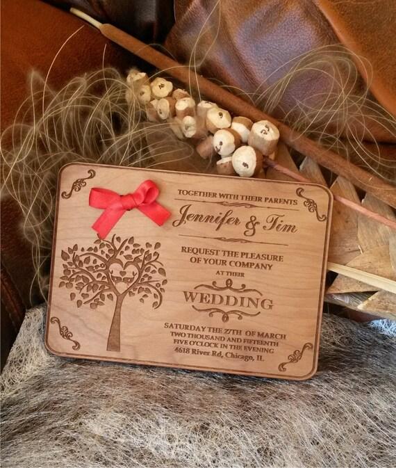 Invito Matrimonio Rustico : Incisa legno invito a nozze inviti matrimonio rustico