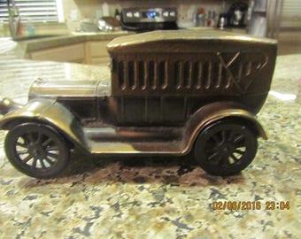 humboldt national bank vintage promotional metal antique car