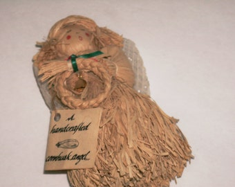 Cornhusk Angel Doll Handmade Judi Webster Design Straw Doll Free Standing Doll Native American Tradition Vintage Hand Made Doll Collectible