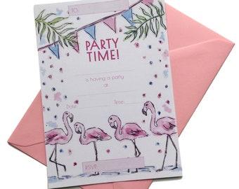 Flamingo Party Invitation