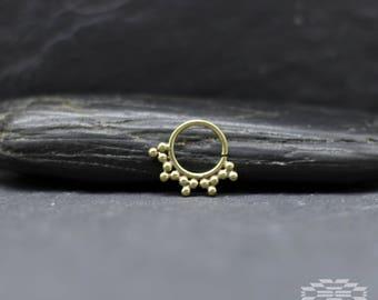 Brass tribal Septum, septum ring, septum piercing, nose ring, Indian Brass septum, septum piercing