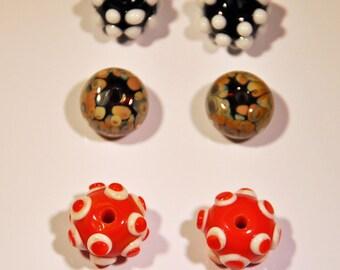3 sets of earrings beads
