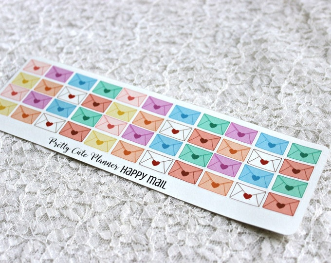 Tiny Reminder Stickers /Mini Happy Mail / Envelope / Planner Stickers / Planner Decor / ECLP Stickers / Happy Planner