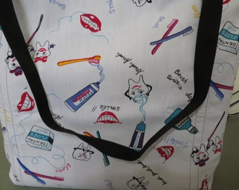 Dental, Hygienist, Reusable Farmers Market / Grocery / Shopping Bag / Tote