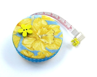 Tape Measure Daffodils Flowers Retractable Pocket Measuring Tape