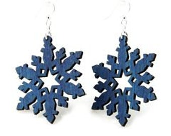 Snow flakes - Laser Cut Wood Earrings