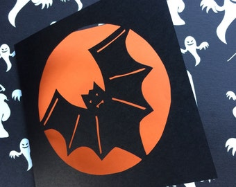 Bat Paper Cut Card