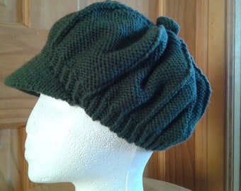 Hand knitted Newsboy hat