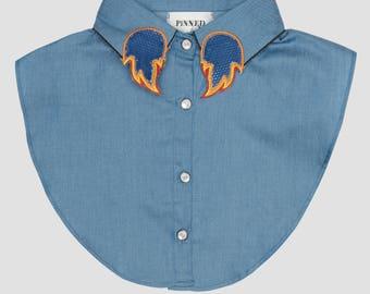Collar jeans fire