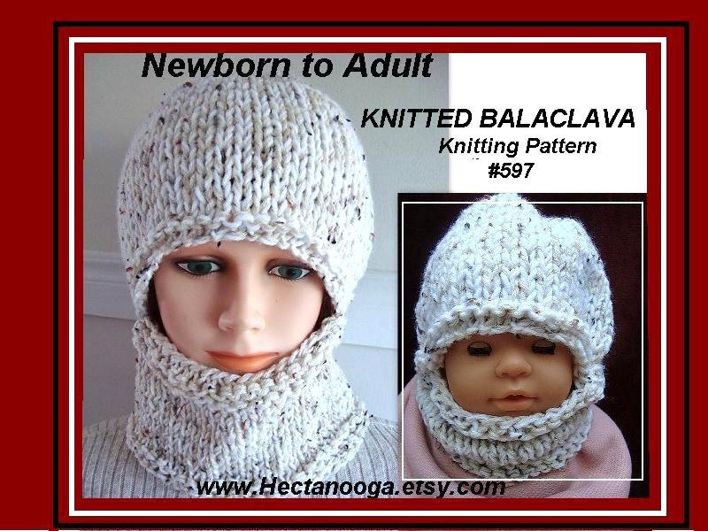 Knitting Pattern Hat Easy Balaclava Or Hat And Cowl Flat Knit