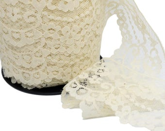 2 Yards Cream Vintage Lace - 2 1/2 inch wide (ACL11)