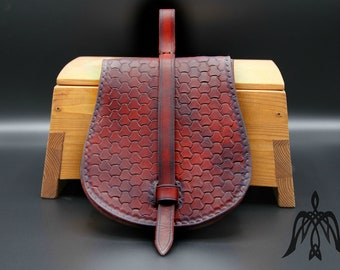 Early medieval bag, pouch Leather