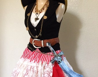 Vintage Pirate Costume - Adult Womens Halloween Costume - Extra Small