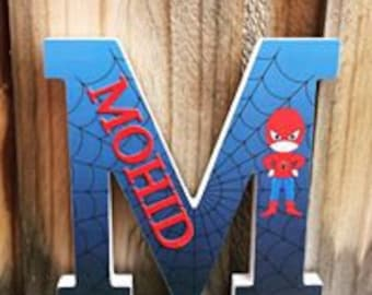 Superhero wooden letters